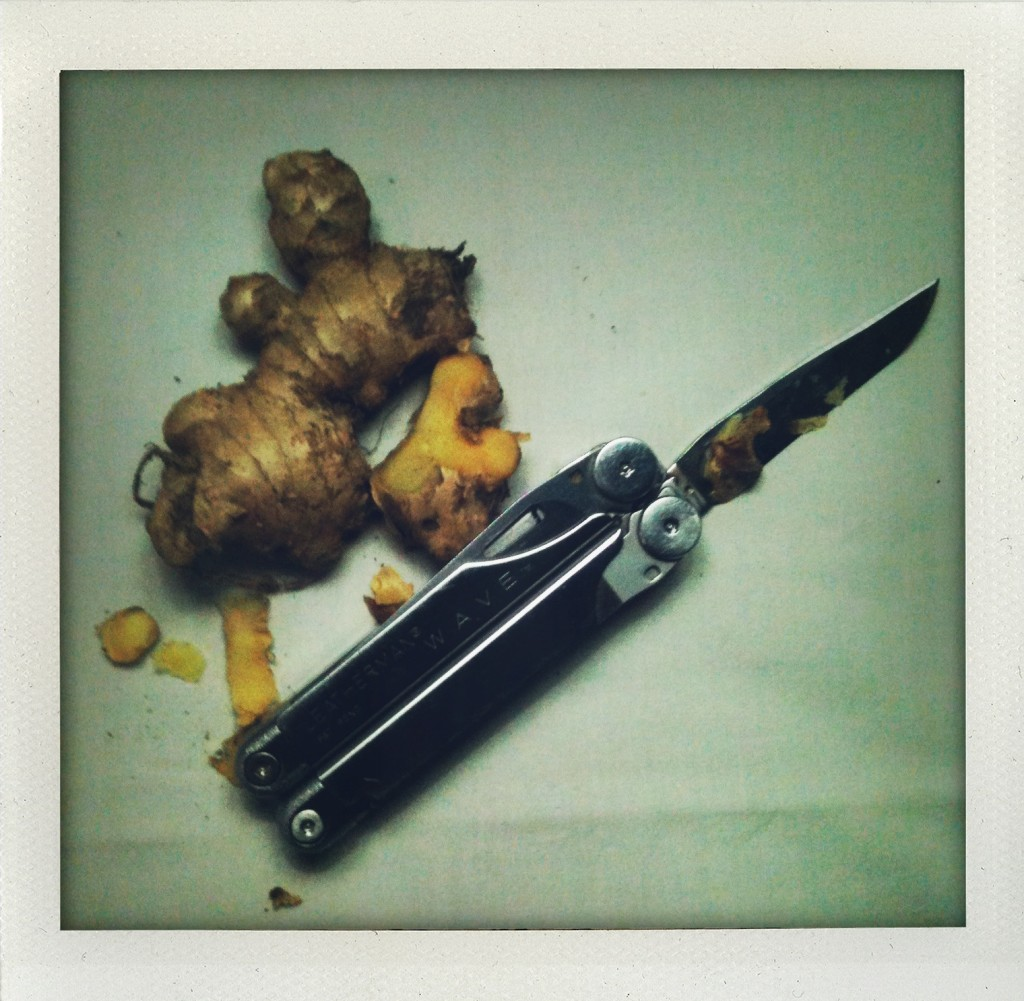 Fresh ginger and Leatherman multi-tool